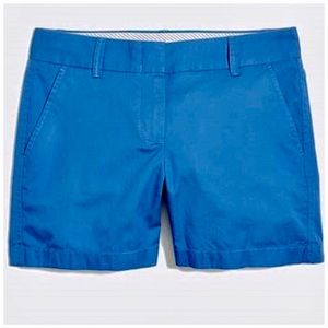 J. Crew Factory Blue Chino Broken In Shorts